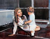 Interior with Mother and Child - Andrew Hollis 2010