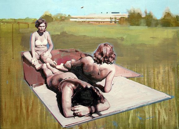 Landscape with Sunbathers - Andrew Hollis 2011