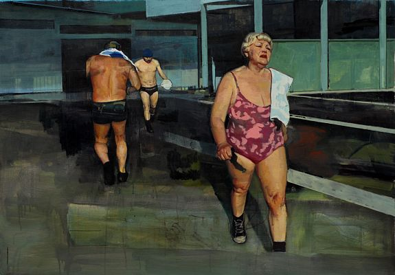 Bathers with Buildings - Andrew Hollis 2011