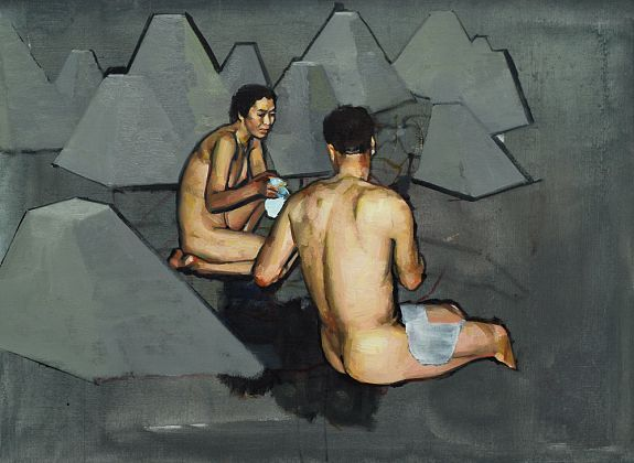 Couple with Pyramid Shapes - Andrew Hollis 2011