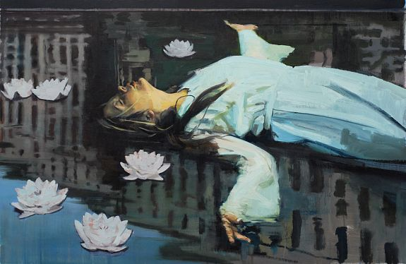 Floating Figure with Flowers - Andrew Hollis 2011